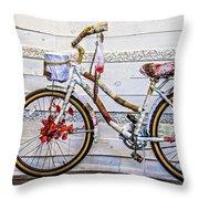 Fairy Tale Bike Flying Machine Throw Pillow