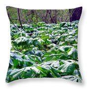 Fairy Umbrella Parade Throw Pillow