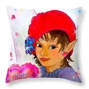 Fairy Valentine Throw Pillow