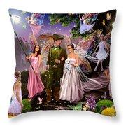 Fairy Wedding Throw Pillow