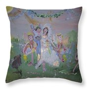 Fairy Wedding Throw Pillow