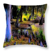 Fairyland Of Gnomes Throw Pillow