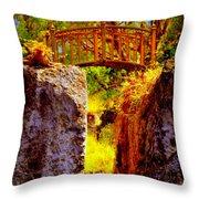 Fairytale Bridge Throw Pillow
