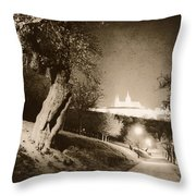 Fairytale Castle Throw Pillow
