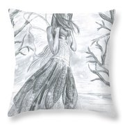 Fairytale Winter Throw Pillow