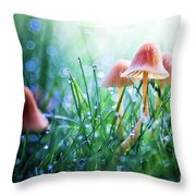 Fairytopia Throw Pillow by Sylvia Cook