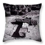Faith Among The Ruins Throw Pillow