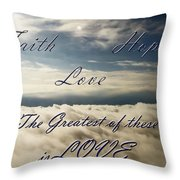 Faith Hope Love Throw Pillow