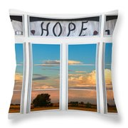 Faith  Hope Love Nature Window View Throw Pillow