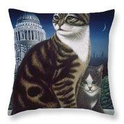 Faith, The St. Paul's Cat Throw Pillow