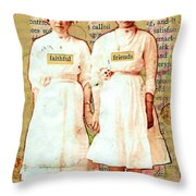 Faithful Friends Throw Pillow