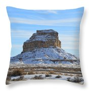 Fajada Butte In Snow Throw Pillow