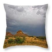 Fajada Butte Storm Throw Pillow
