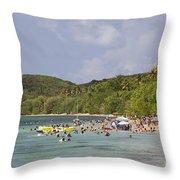 Fajardo Beach In  Puerto Rico Throw Pillow