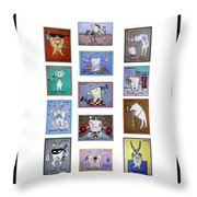 Falboart Tooth Chart Throw Pillow