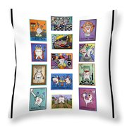 Falboart Tooth Chart Number 2 Throw Pillow