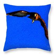Falcon In Blue Throw Pillow