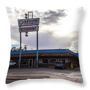 Falcon Restaurant Throw Pillow