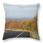 Fall Along The Country Highway 2 Throw Pillow