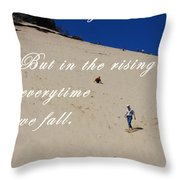 Fall And Rise Throw Pillow