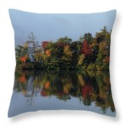 Fall At Heart Pond Throw Pillow