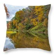 Fall At Little Beaver Creek Throw Pillow