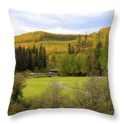 Fall At The Course Throw Pillow