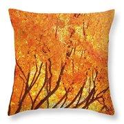 Fall At The Shore Throw Pillow