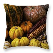 Fall Autumn Abundance Throw Pillow