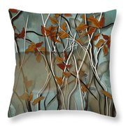 Fall Branches With Deer Throw Pillow