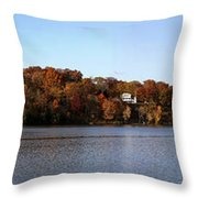 Fall By The River Throw Pillow
