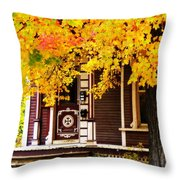 Fall Canopy Over Victorian Porch Throw Pillow