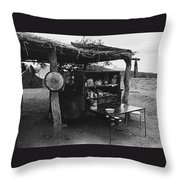 Fall Cattle Round-up Tohono O'odham Reservation Cook's Work Area Hanging Meat For Curing Near Sells  Throw Pillow