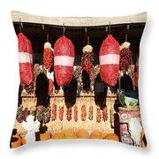 Fall Chilli Market Throw Pillow