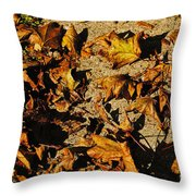 Fall Cleanup Throw Pillow