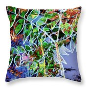 Fall Color Collage Throw Pillow