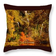 Fall Color Creekside Throw Pillow