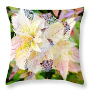 Fall Color On A Foggy Day 4 Throw Pillow
