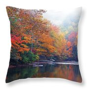 Fall Color Williams River Throw Pillow by Thomas R Fletcher