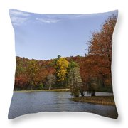 Fall Colors At Sherando Lake Throw Pillow