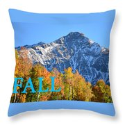 Fall Colors Cover Work Throw Pillow