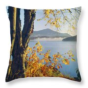 Fall Colors Frame Whiteface Mountain Throw Pillow