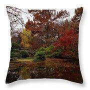 Fall Colors In The Garden Throw Pillow