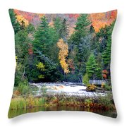 Fall Colors On The  Tahquamenon River   Throw Pillow