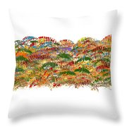 Fall Colours Throw Pillow