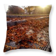 Fall Comes To Portland Throw Pillow