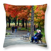 Fall Couples Throw Pillow