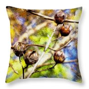 Fall Crepe Myrtle Throw Pillow