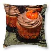 Fall Cupcakes Throw Pillow