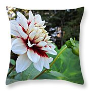 Fall Dahlia Throw Pillow